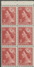 AUS SG262a 3½d Queen Elizabeth II brown-red definitive no wmk booklet (exSB32) pane